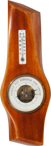 Military & Patriotic:WWI, WWI German Propeller Hub Barometer and Thermometer....