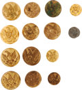 Militaria:Uniforms, Buttons: A Group of Fourteen United States Army Cavalry and Infantry Buttons....
