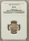 Liberty Nickels: , 1883 5C No Cents MS64 NGC. NGC Census: (2239/2383). PCGS Population(3164/1755). Mintage: 5,479,519. Numismedia Wsl. Price ...