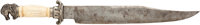 Massive Antique Clip-Point Bowie Knife Marked: Geo. Wostenholm & Sons