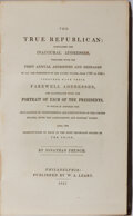 Books:Americana & American History, Jonathan French. The True Republican. Leary, 1847. Lateredition. Publisher's cloth with minor rubbing. Light chippi...