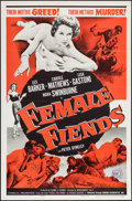 "Movie Posters:Crime, Female Fiends (Cinema Associates, Inc., 1959). One Sheet (27"" X41""). Crime.. ..."