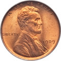 Lincoln Cents, 1909 1C MS67 Red PCGS. CAC....