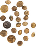 Militaria:Uniforms, Buttons: A Group of Twenty-One General Service Staff Officer Buttons and Three General Service Buttons....