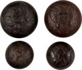 Militaria:Uniforms, Buttons: Four Goodyear Patent Military Uniform Buttons,... (Total: 4 Items)