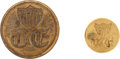 Militaria:Uniforms, Buttons: Two Topographical Engineer Buttons.... (Total: 2 Items)