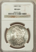 Morgan Dollars, 1880-S $1 MS66+ NGC. NGC Census: (11065/3347). PCGS Population(9595/2013). Mintage: 8,900,000. Numismedia Wsl. Price for p...