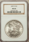 Morgan Dollars: , 1899-O $1 MS66 NGC. NGC Census: (1075/108). PCGS Population(1211/93). Mintage: 12,290,000. Numismedia Wsl. Price for probl...