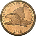 Flying Eagle Cents, 1858 1C Small Letters MS65 PCGS....