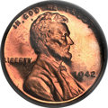 Proof Lincoln Cents, 1942 1C PR66 Red Cameo PCGS....