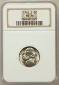 Jefferson Nickels: , 1942-S 5C MS66 NGC. NGC Census: (1969/1290). PCGS Population(1351/75). Mintage: 32,900,000. Numismedia Wsl. Price for prob...