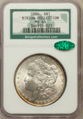 Morgan Dollars: , 1886 $1 MS66 NGC. CAC. Ex: Binion Collection. NGC Census:(4896/884). PCGS Population (2529/268). Mintage: 19,963,886.Numi...