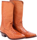 Miscellaneous, Western Apparel: Brown Ostrich Boots....