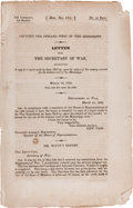 "Books:Americana & American History, Native Americans: 1832 ""Trail of Tears"" Congressional Report. ..."