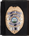 Western Expansion, California Special Agent's Badge. ...
