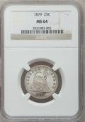 Seated Quarters, 1879 25C MS64 NGC....