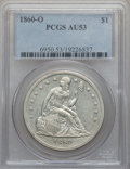 Seated Dollars, 1860-O $1 AU53 PCGS....