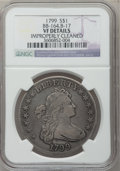 Early Dollars, 1799 $1 7x6 Stars -- Improperly Cleaned -- NGC Details. VF. B-17,BB-164, R.2....