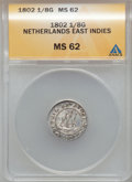 Netherlands East Indies:Batavian Republic, Netherlands East Indies: Batavian Republic 1/8 Gulden 1802,...