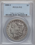 Morgan Dollars: , 1888-S $1 Fine 12 PCGS. PCGS Population (20/6531). NGC Census:(10/3786). Mintage: 657,000. Numismedia Wsl. Price for probl...