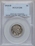 Buffalo Nickels: , 1914-D 5C Good 6 PCGS. PCGS Population (27/1604). NGC Census:(6/1041). Mintage: 3,912,000. Numismedia Wsl. Price for probl...