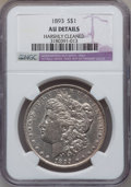 Morgan Dollars, 1893 $1 -- Harshly Cleaned -- NGC Details. AU. NGC Census:(233/2809). PCGS Population (311/4286). Mintage: 389,792. Numism...