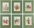 Military & Patriotic:Foreign Wars, Set of Fourteen Chromolithograph Military Prints, primarily by G Douglas Giles, c.1890.... (Total: 14 Items)