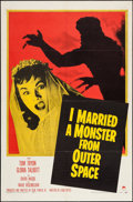 "Movie Posters:Science Fiction, I Married a Monster from Outer Space (Paramount, 1958). One Sheet(27"" X 41""). Science Fiction.. ..."