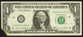Error Notes:Foldovers, Fr. 1907-D $1 1969D Federal Reserve Note. Very Fine-ExtremelyFine.. ...