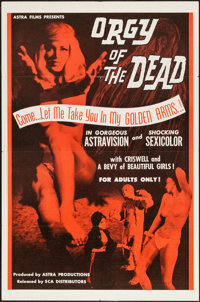 """Orgy of the Dead (SCA, 1965). One Sheet (27"""" X 41""""). Horror"""