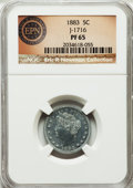 Patterns, 1883 5C Liberty Head Five Cents, Judd-1716, Pollock-1921, High R.7, PR65 NGC. Ex: Eric P. Newman Collection. NGC Census: (0...