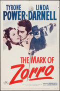 """Movie Posters:Swashbuckler, The Mark of Zorro (20th Century Fox, R-1958). One Sheet (27"""" X 41""""). Swashbuckler.. ..."""