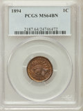 Indian Cents: , 1894 1C MS64 Brown PCGS. PCGS Population (45/10). NGC Census:(91/32). Mintage: 16,752,132. Numismedia Wsl. Price for probl...