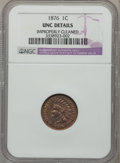 Indian Cents, 1876 1C -- Improperly Cleaned -- NGC Details. UNC. NGC Census:(1/160). PCGS Population (2/96). Mintage: 7,944,000. Numisme...