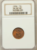 Indian Cents: , 1906 1C MS64 Red and Brown NGC. NGC Census: (365/193). PCGSPopulation (542/116). Mintage: 96,022,256. Numismedia Wsl. Pric...