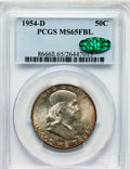 Franklin Half Dollars: , 1954-D 50C MS65 Full Bell Lines PCGS. CAC. PCGS Population(1403/96). NGC Census: (568/22). Numismedia Wsl. Price for prob...