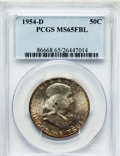 Franklin Half Dollars: , 1954-D 50C MS65 Full Bell Lines PCGS. PCGS Population (1403/96).NGC Census: (568/22). Numismedia Wsl. Price for problem f...