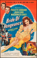 "Movie Posters:Adventure, Bride of Vengeance (Paramount, 1949). Trimmed One Sheet (25.5"" X40""). Adventure.. ..."