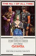 "Movie Posters:Historical Drama, Cleopatra (20th Century Fox, 1963). One Sheet (27"" X 41"") Todd AOStyle With Snipe. Historical Drama.. ..."