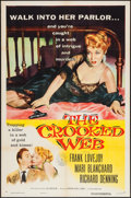 "Movie Posters:Crime, The Crooked Web and Other Lot (Columbia, 1955). One Sheets (2) (27"" X 41""). Crime.. ... (Total: 2 Items)"
