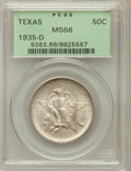 Commemorative Silver: , 1935-D 50C Texas MS66 PCGS. PCGS Population (727/206). NGC Census:(676/166). Mintage: 10,007. Numismedia Wsl. Price for pr...