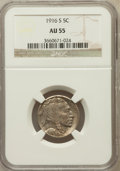 Buffalo Nickels: , 1916-S 5C AU55 NGC. NGC Census: (35/737). PCGS Population (63/967).Mintage: 11,860,000. Numismedia Wsl. Price for problem ...