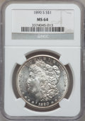Morgan Dollars: , 1890-S $1 MS64 NGC. NGC Census: (2127/419). PCGS Population(2921/817). Mintage: 8,230,373. Numismedia Wsl. Price for probl...