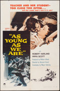 """Movie Posters:Drama, As Young As We Are (Paramount, 1958). One Sheet (27"""" X 41"""") & Lobby Card Set of 8 (11"""" X 14""""). Drama.. ... (Total: 9 Items)"""