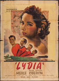 "Lydia (London Films, 1946). French Grande (47"" X 63""). Romance"
