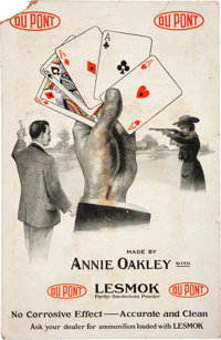 Annie Oakley: Large DuPont Advertising Card