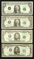 Error Notes:Error Group Lots, A Trio of Error Notes along with a Bonus. Very Fine-Gem CrispUncirculated.. ... (Total: 4 notes)