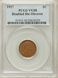 Lincoln Cents: , 1917 1C Doubled Die Obverse VG8 PCGS. PCGS Population (16/82). NGCCensus: (0/0). ...