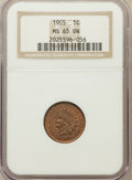 Indian Cents: , 1905 1C MS65 Brown NGC. NGC Census: (30/3). PCGS Population (10/1).Mintage: 80,719,160. Numismedia Wsl. Price for problem ...