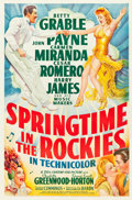 "Movie Posters:Musical, Springtime in the Rockies (20th Century Fox, 1942). One Sheet (27""X 41"").. ..."